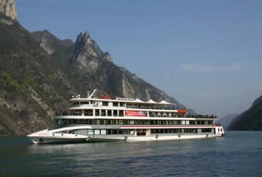 长江三峡五号游轮,宜昌两坝一峡三峡升船机旅游豪华游轮