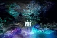 2017年宜昌夜游三游洞,荧光夜游,与光影约会,欣赏互动投影、多媒体舞台剧
