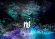 宜昌夜游三游洞,荧光夜游,与光影约会,欣赏互动投影、多媒体舞台剧