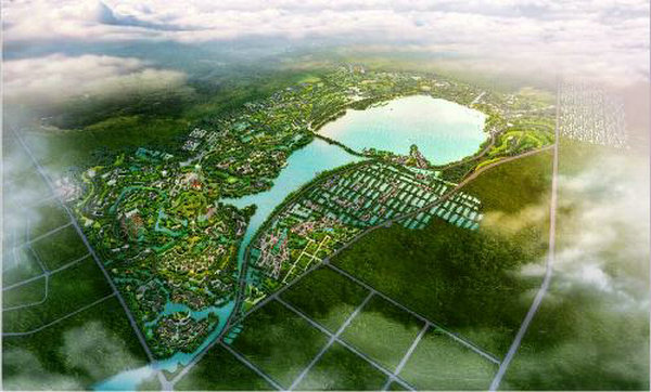 金湖风景区鸟瞰图2