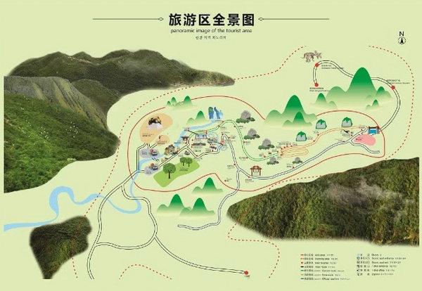 武陵峡风景区全景图