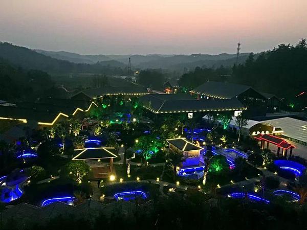 武陵峡温泉夜景