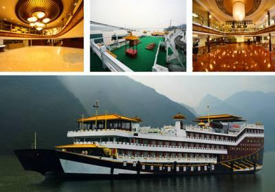 皇家花苑豪华游船 宜昌三峡唯一仿古战船游轮花苑号