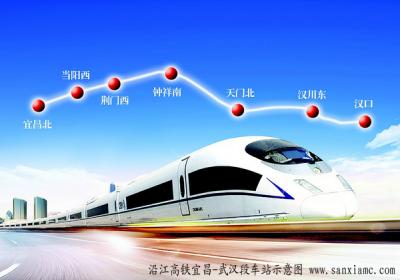 沿江高铁宜昌到武汉段基本确定,始于汉口站终于宜昌北站