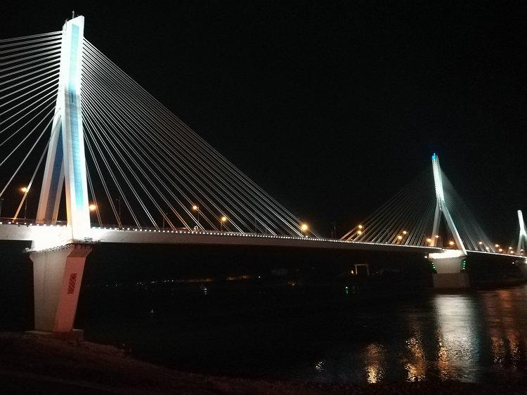 宜昌夜游景色 夷陵大桥夜景