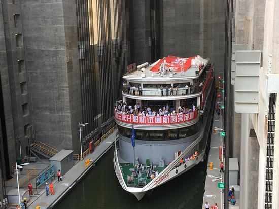 三峡升船机工程档案顺利通过国家验收,宜昌升船机旅游体验水上电梯的百米垂直升降