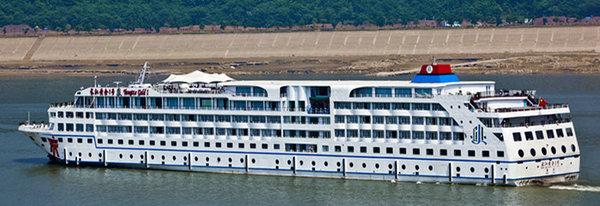 长江黄金八号游船,乘黄金游轮游三峡,宜昌到重庆三峡豪华游轮