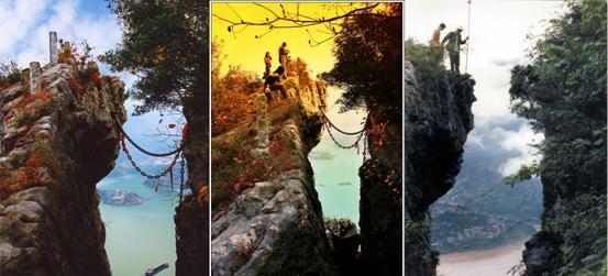 链子崖景区主要景点介绍 神秘北纬30度神奇链子崖